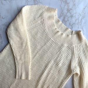 Lou & Grey Cream Ribbed Sweater Size Medium